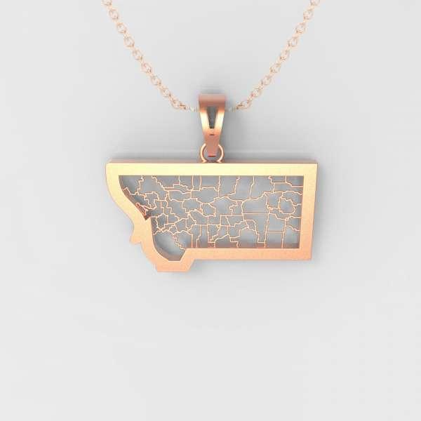 montana map pendant with states outline heartland pendants